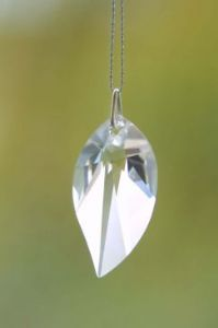 Crystal~New Leaf 28 Clear Swarovski Rainbow Hanging Crystal-A stunning array of dancing